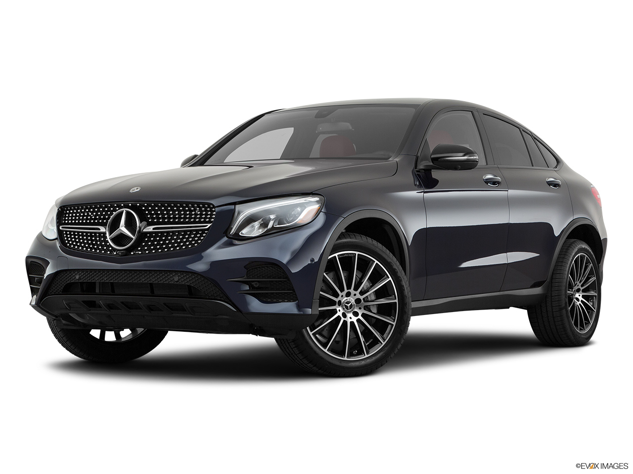 2019 Mercedes-Benz GLC-Class Coupe GLC 300 4MATIC Front angle medium view.