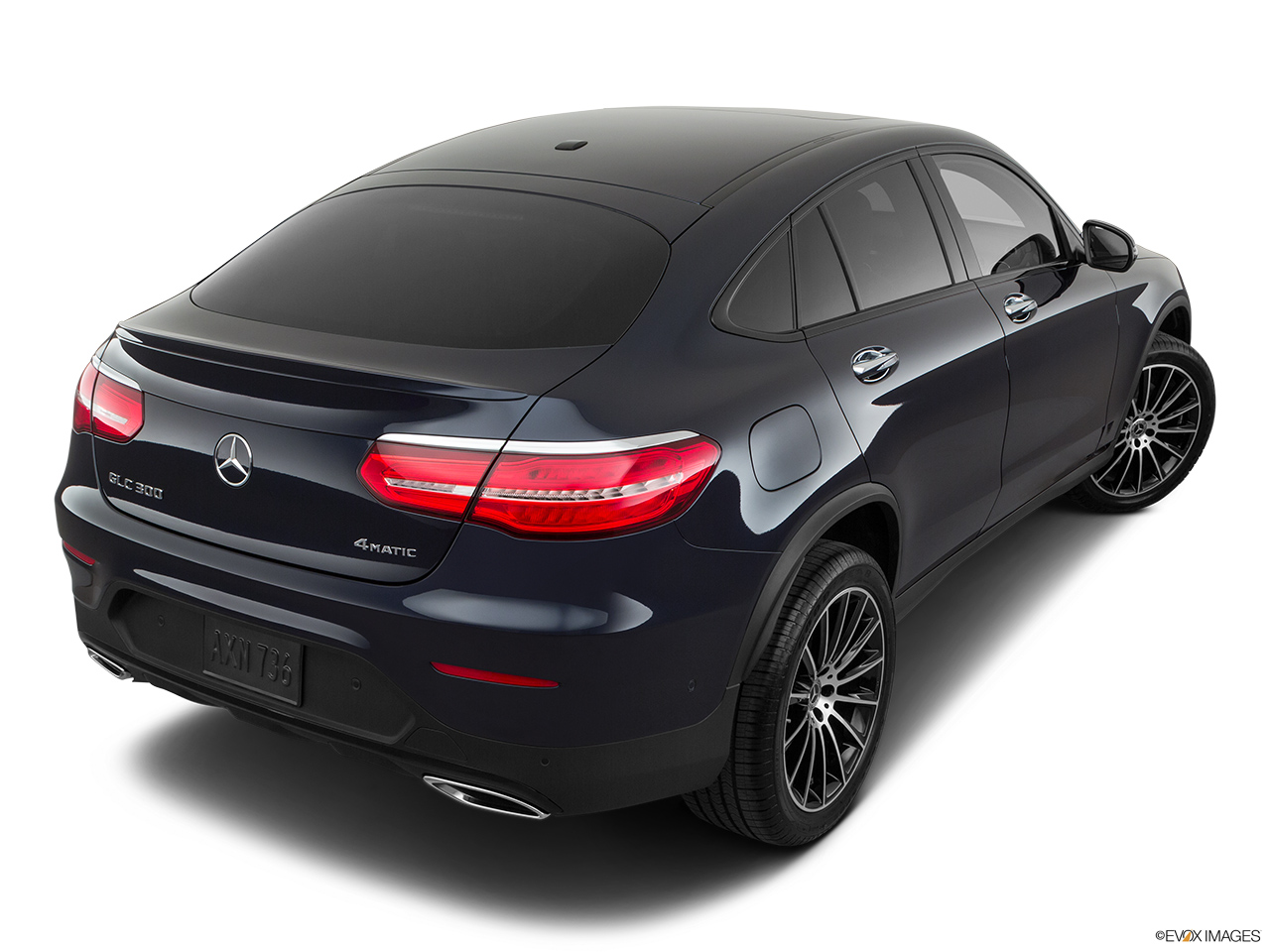 2019 Mercedes-Benz GLC-Class Coupe GLC 300 4MATIC Rear 3/4 angle view.