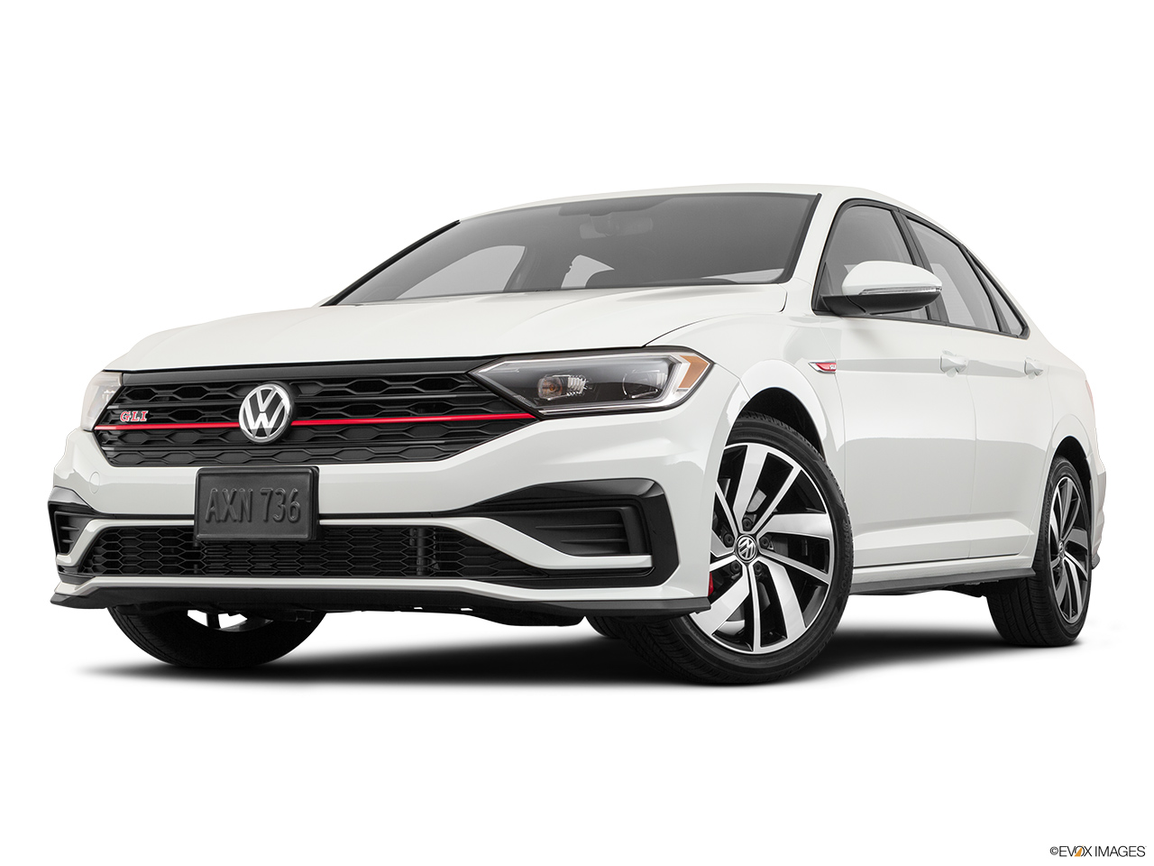 2019 Volkswagen Jetta GLI S Front angle view, low wide perspective.
