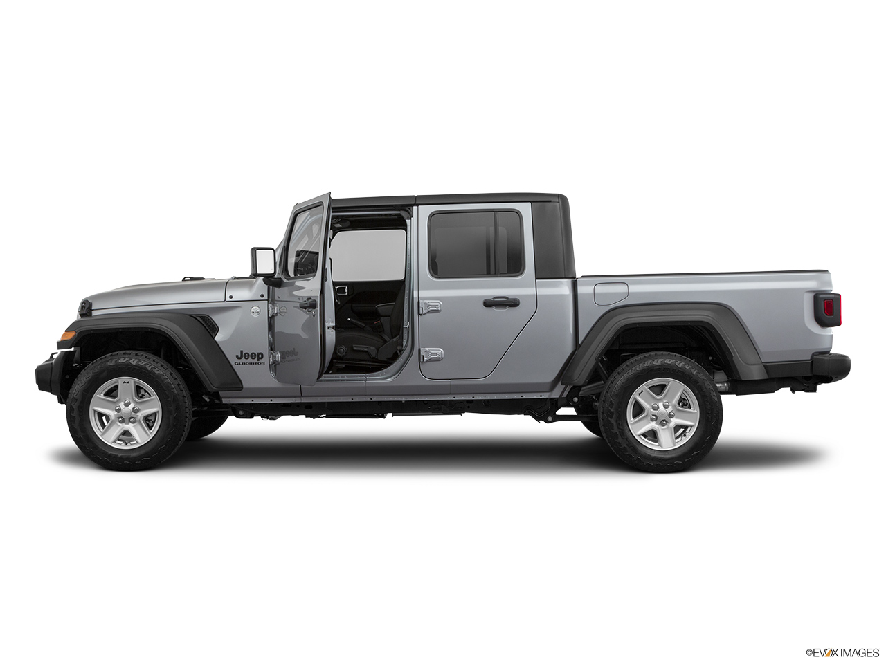 2020 Jeep Gladiator Sport S Driver's side profile with drivers side door open.