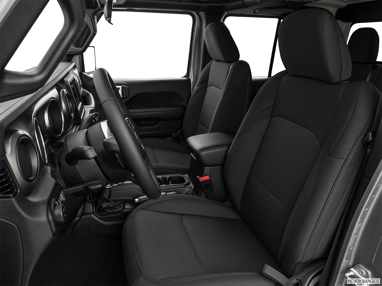 2020 Jeep Gladiator Sport S Front seats from Drivers Side.