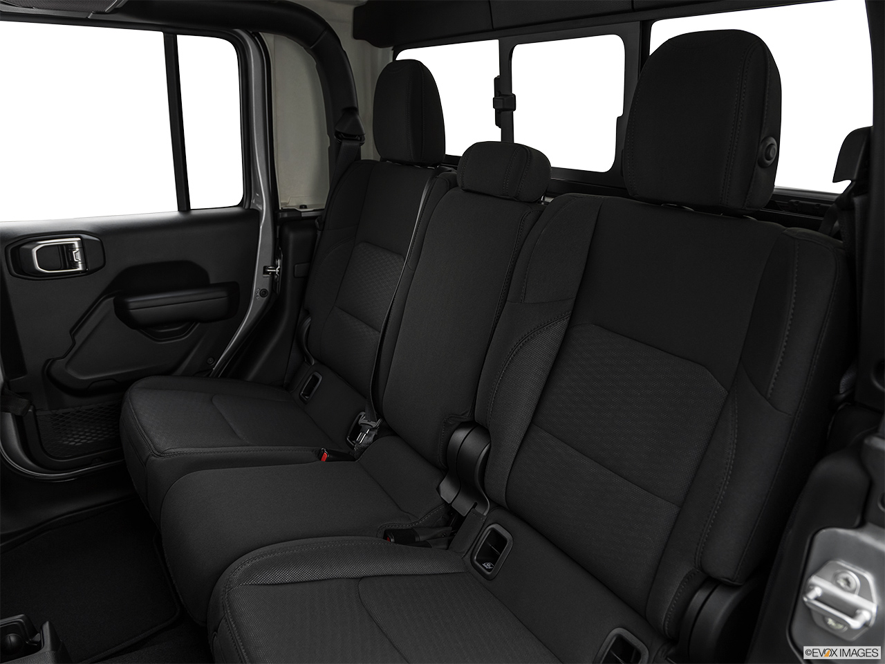 2020 Jeep Gladiator Sport S Rear seats from Drivers Side.