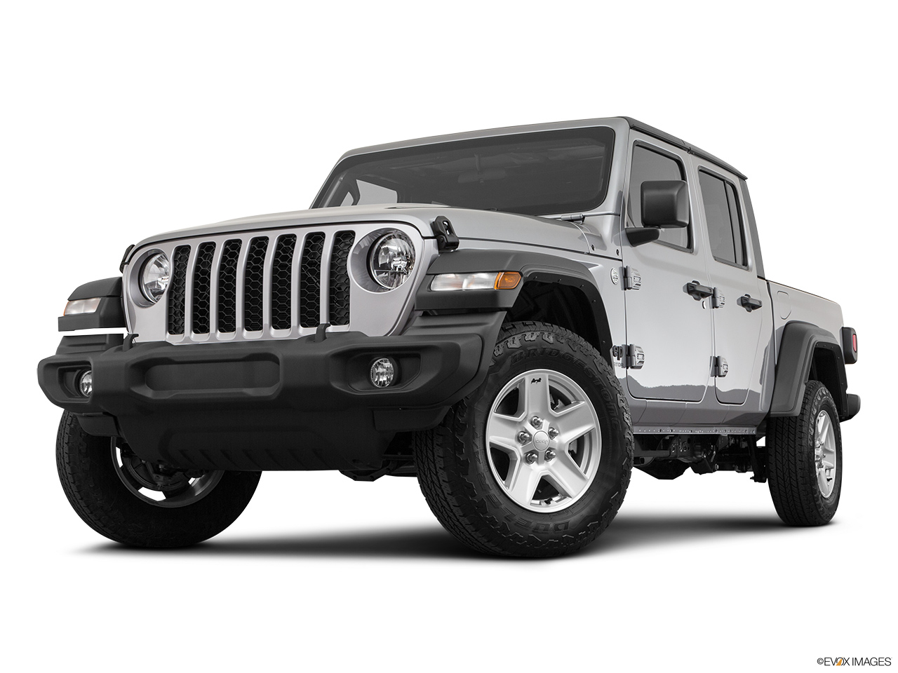 2020 Jeep Gladiator Sport S Front angle view, low wide perspective.