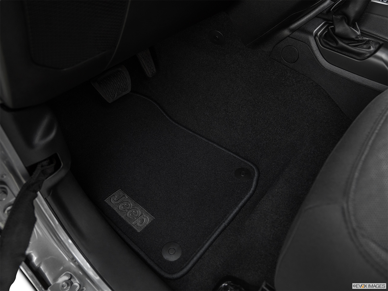 2020 Jeep Gladiator Sport S Driver's floor mat and pedals. Mid-seat level from outside looking in.