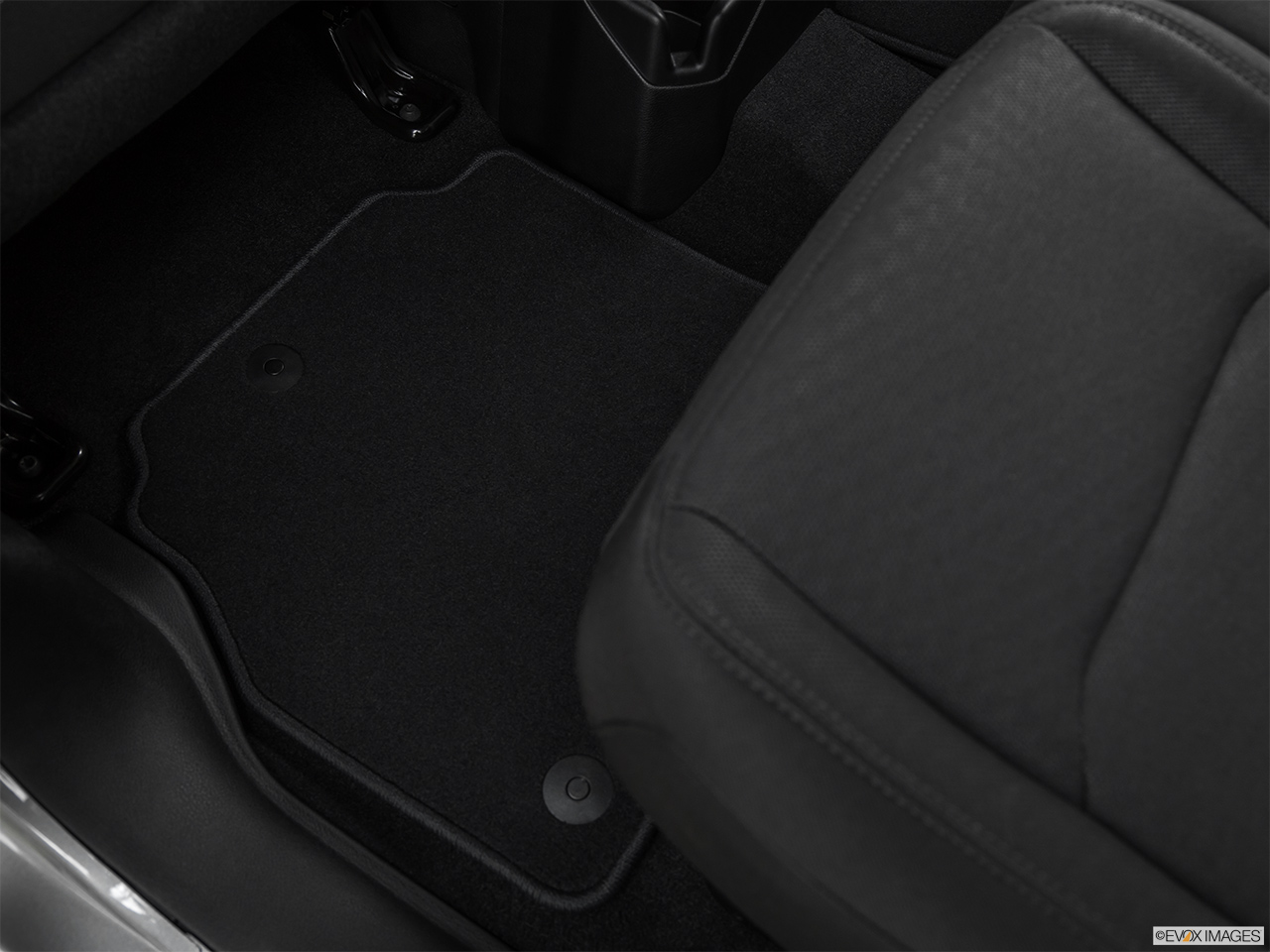 2020 Jeep Gladiator Sport S Rear driver's side floor mat. Mid-seat level from outside looking in.