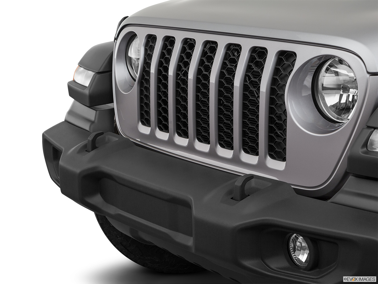 2020 Jeep Gladiator Sport S Close up of Grill.