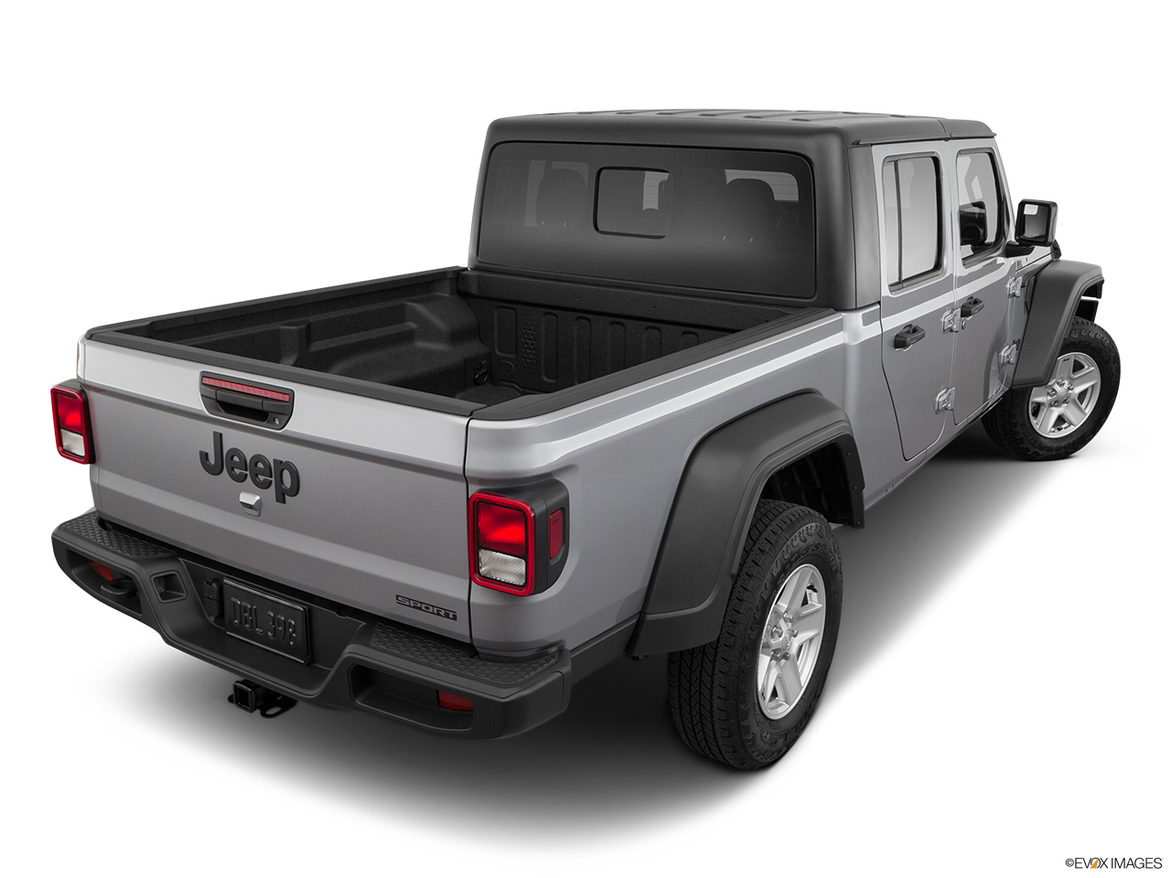 2020 Jeep Gladiator Sport S Rear 3/4 angle view.