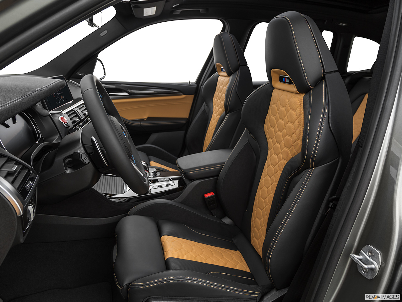 2020 BMW X3 M Competition Front seats from Drivers Side.