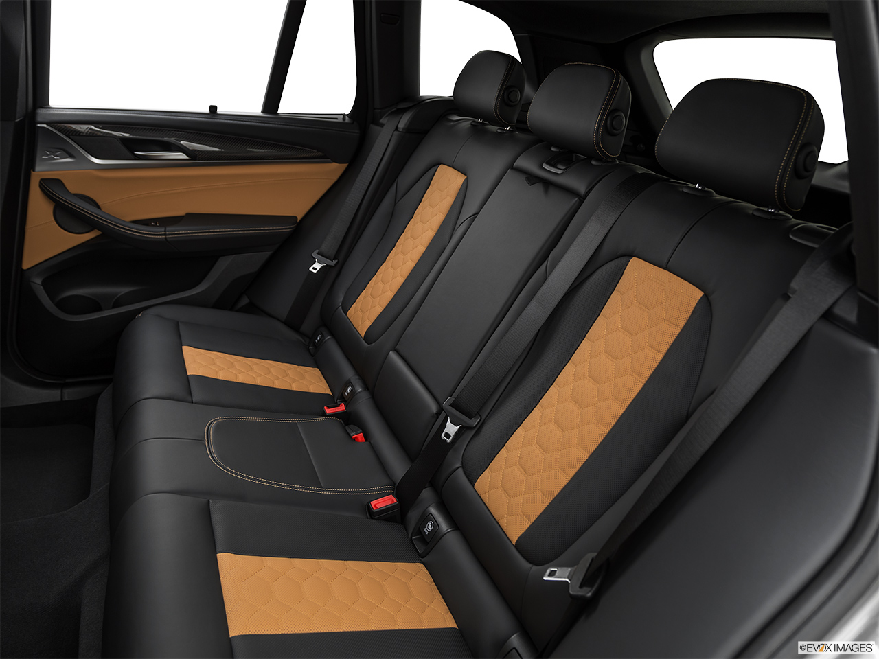 2020 BMW X3 M Competition Rear seats from Drivers Side.