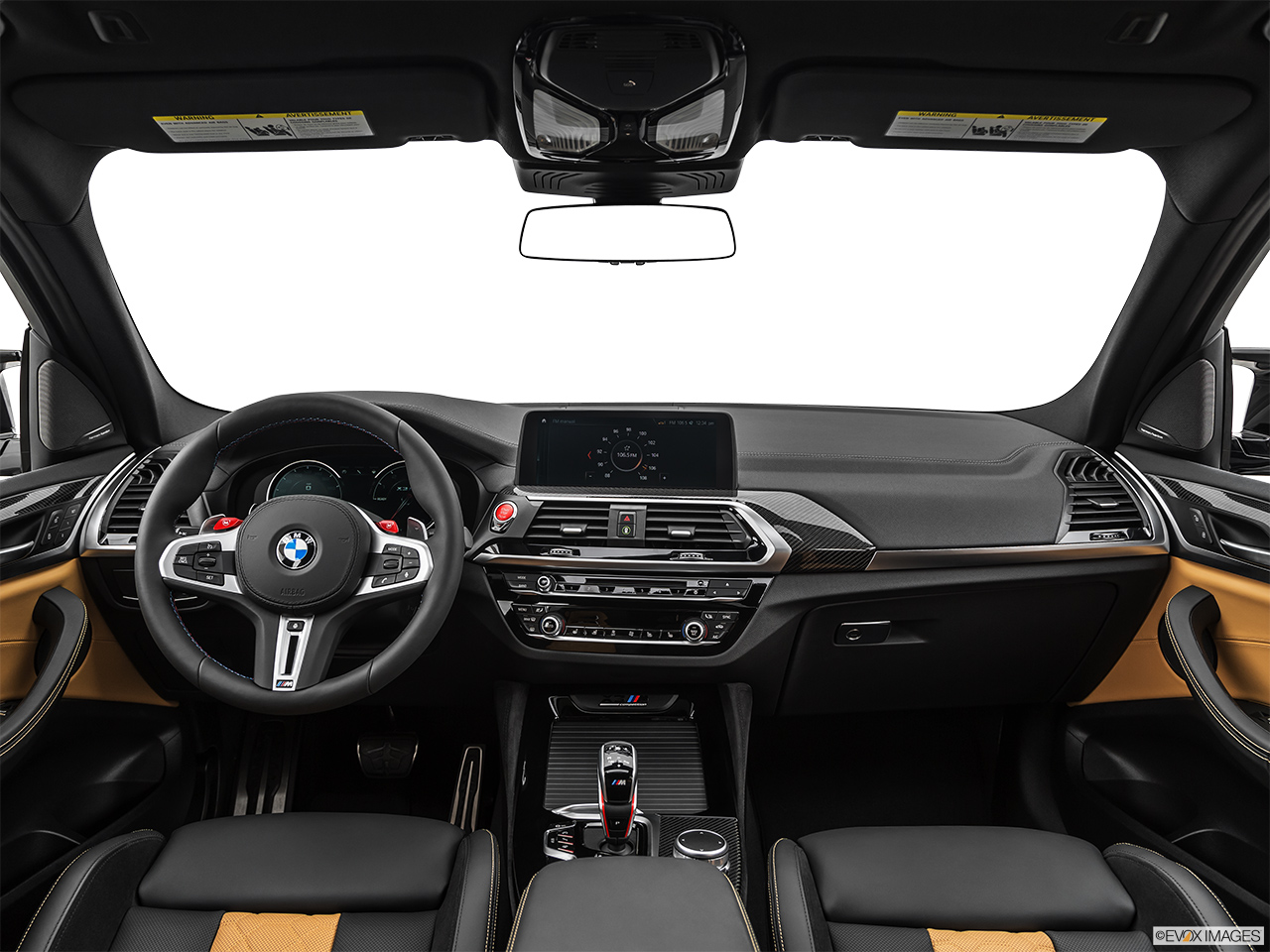 2020 BMW X3 M Competition Centered wide dash shot