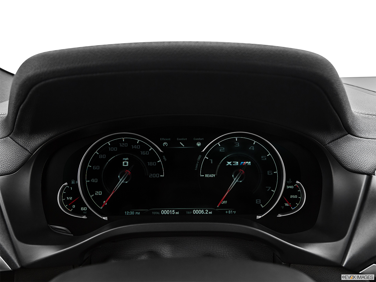 2020 BMW X3 M Competition Speedometer/tachometer.