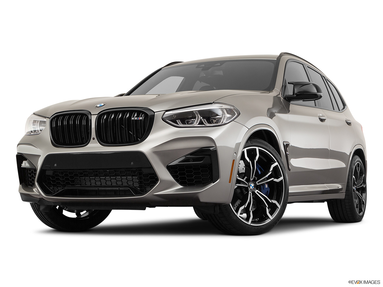 2020 BMW X3 M Competition Front angle view, low wide perspective.