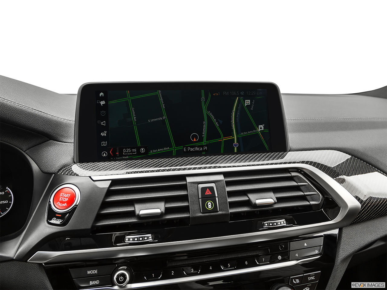 2020 BMW X3 M Competition Driver position view of navigation system.