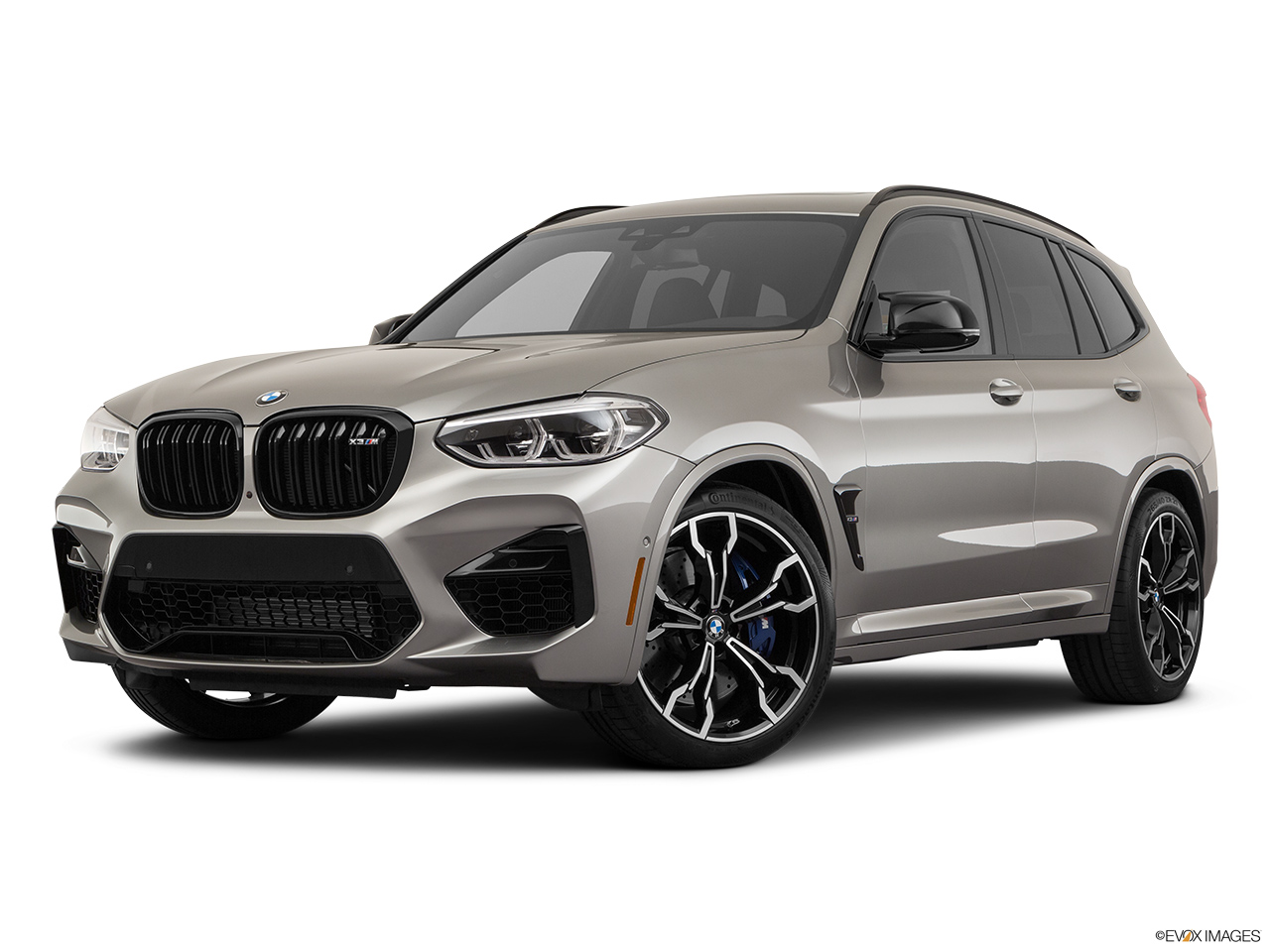 2020 BMW X3 M Competition Front angle medium view.