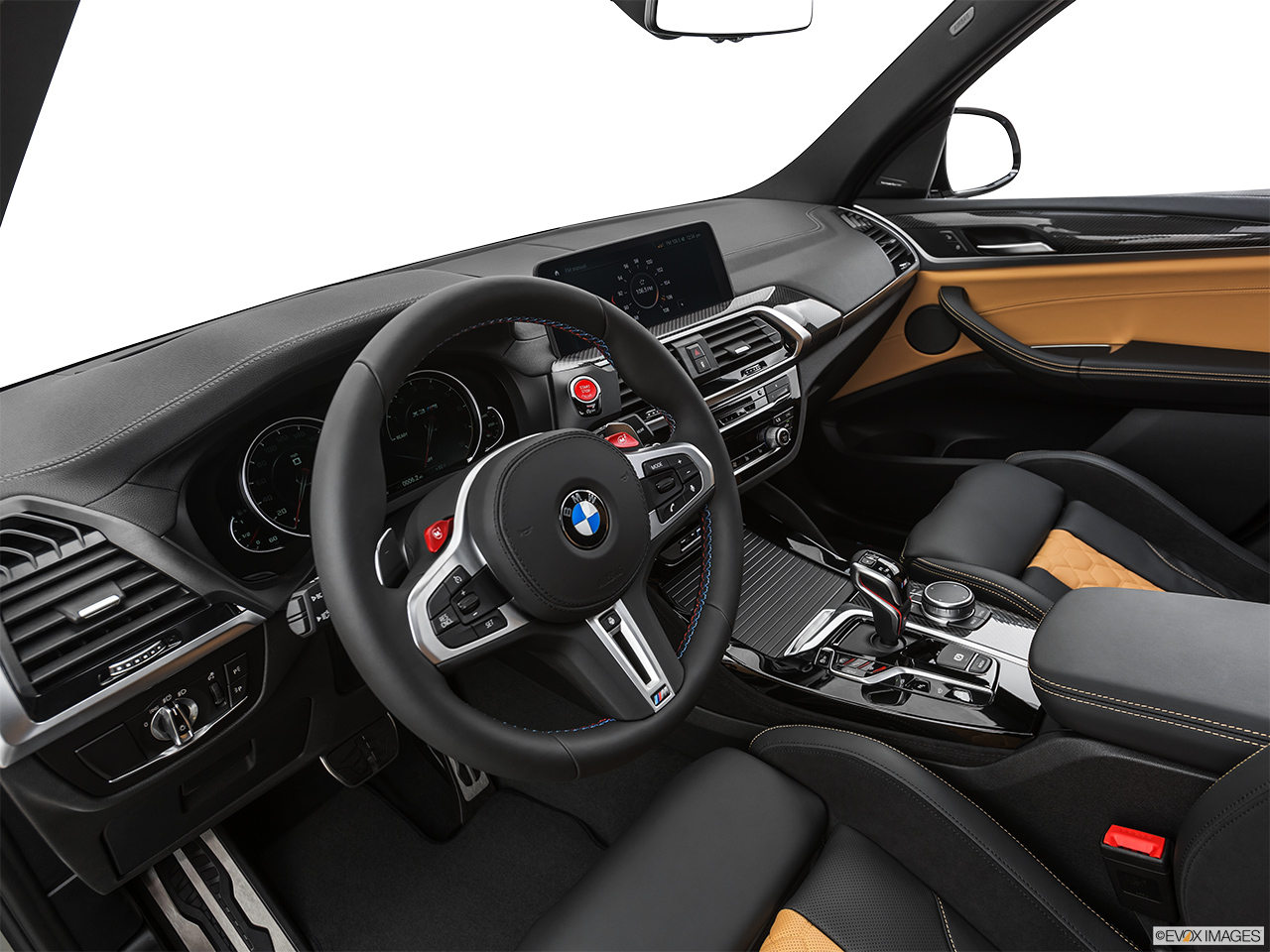 2020 BMW X3 M Competition Interior Hero (driver's side).