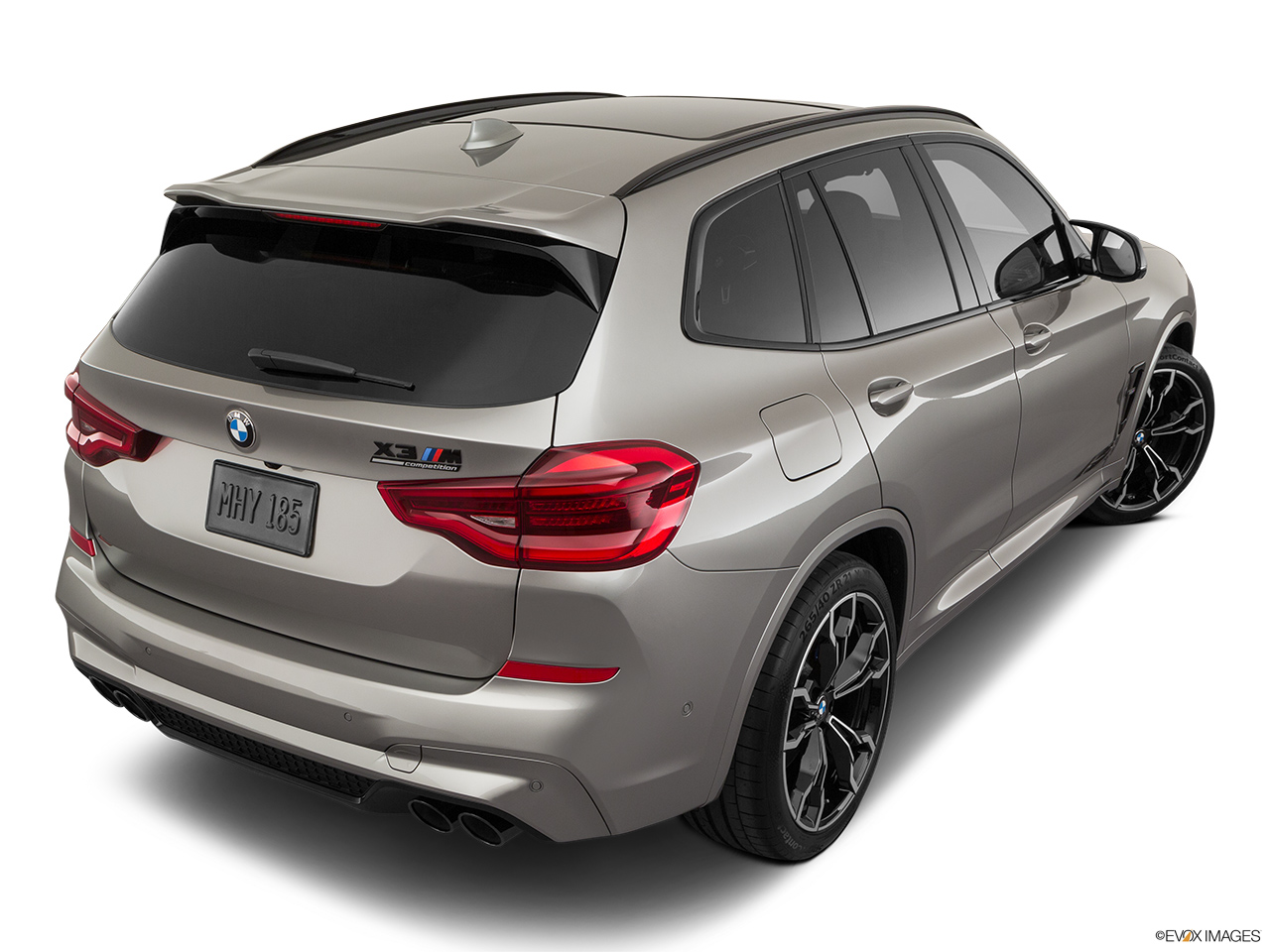 2020 BMW X3 M Competition Rear 3/4 angle view.