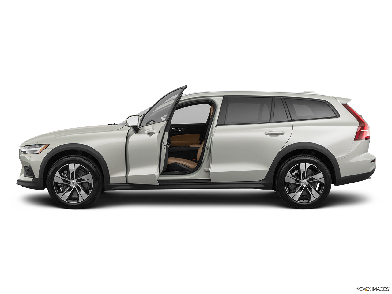2020 Volvo V60 Cross Country T5 AWD Driver's side profile with drivers side door open.