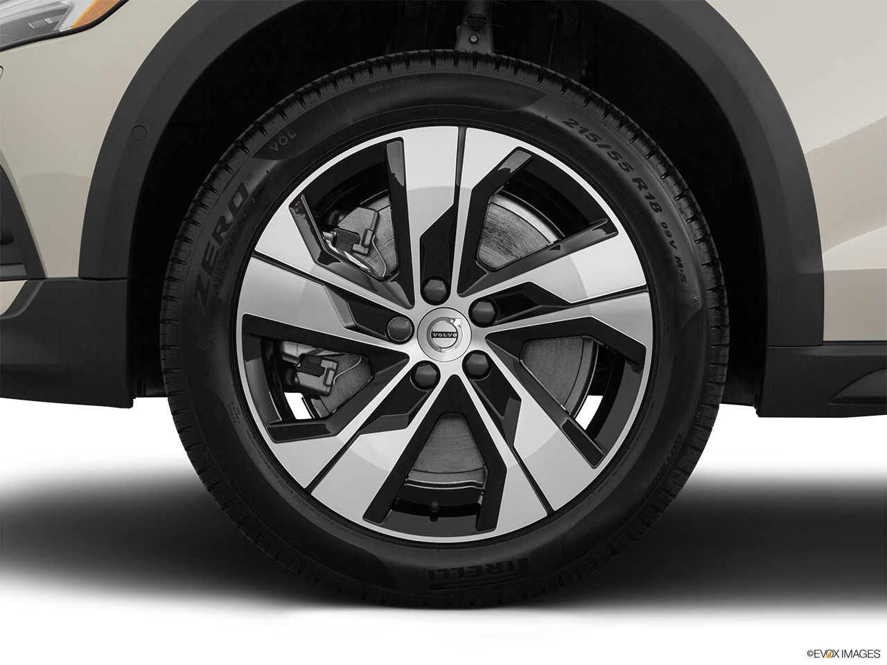2020 Volvo V60 Cross Country T5 AWD Front Drivers side wheel at profile.