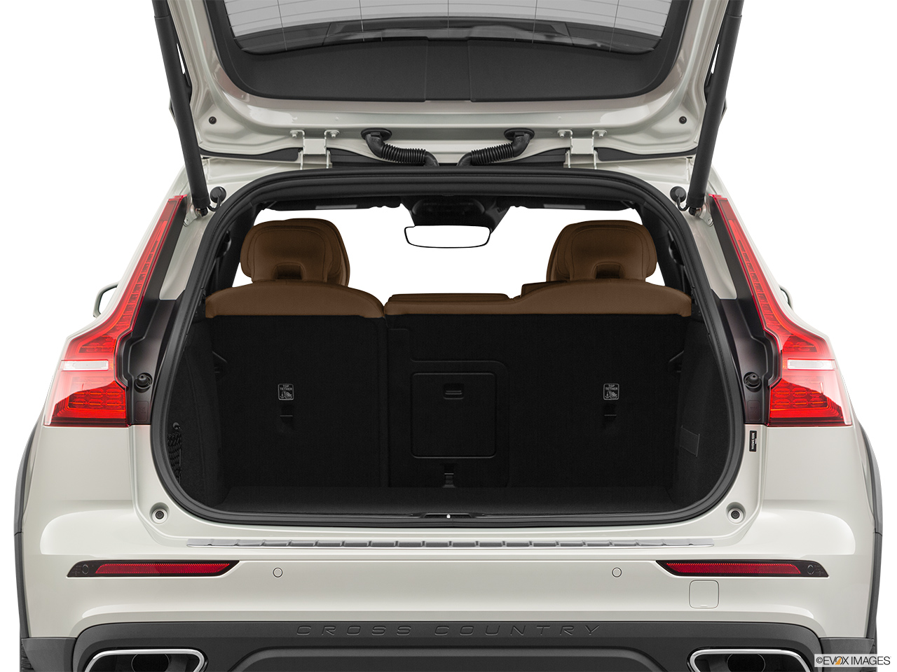 2020 Volvo V60 Cross Country T5 AWD Trunk open.
