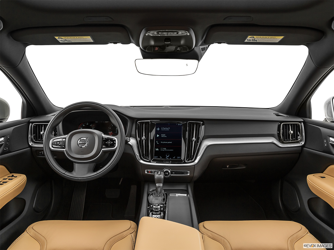 2020 Volvo V60 Cross Country T5 AWD Centered wide dash shot
