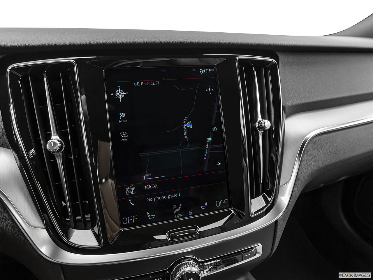 2020 Volvo V60 Cross Country T5 AWD Driver position view of navigation system.