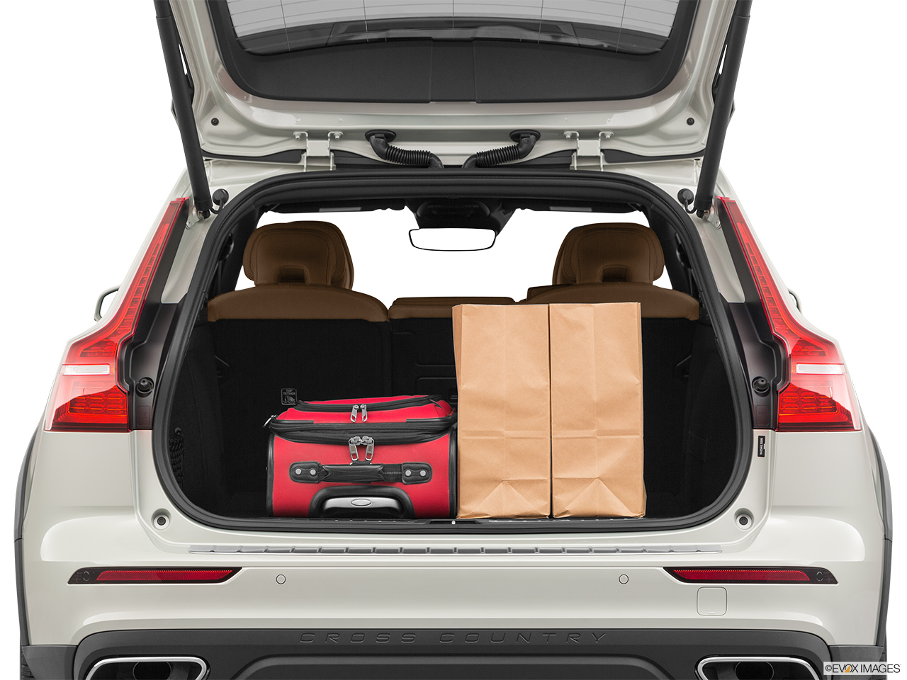 2020 Volvo V60 Cross Country T5 AWD Trunk props.