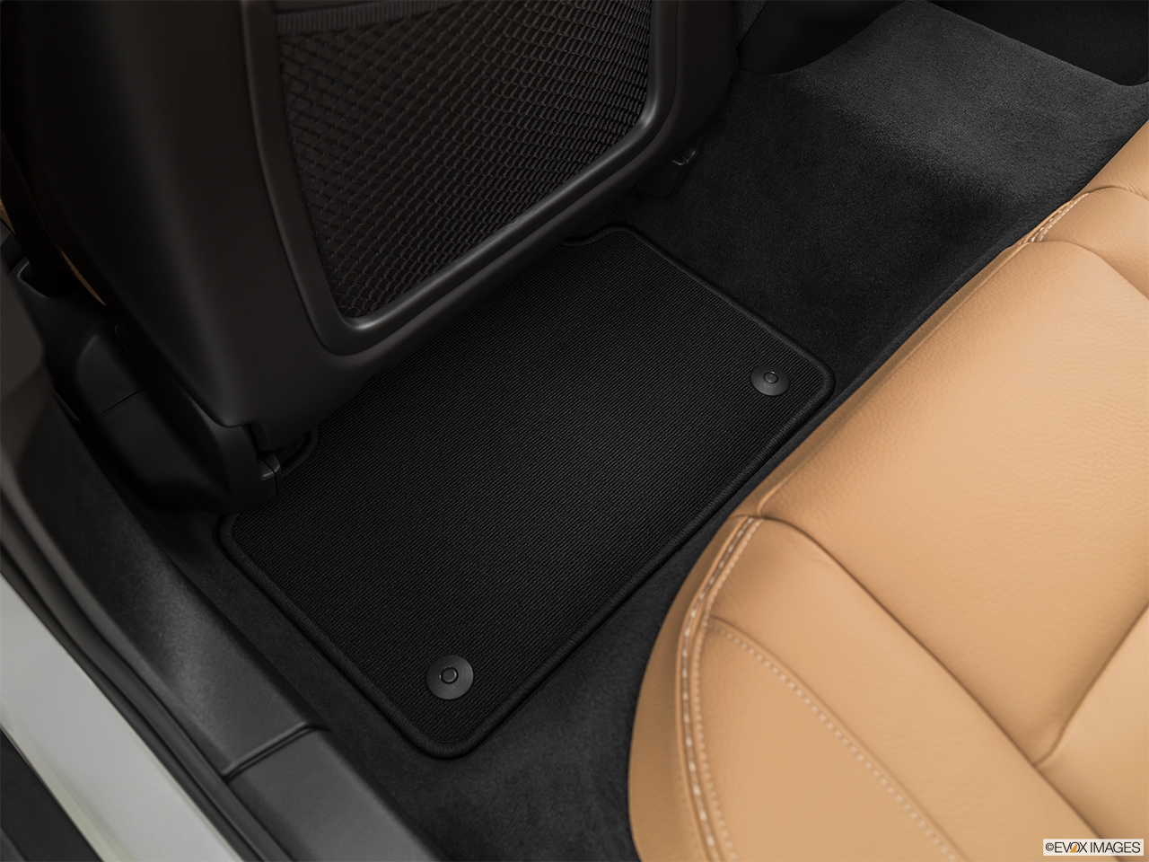 2020 Volvo V60 Cross Country T5 AWD Rear driver's side floor mat. Mid-seat level from outside looking in.