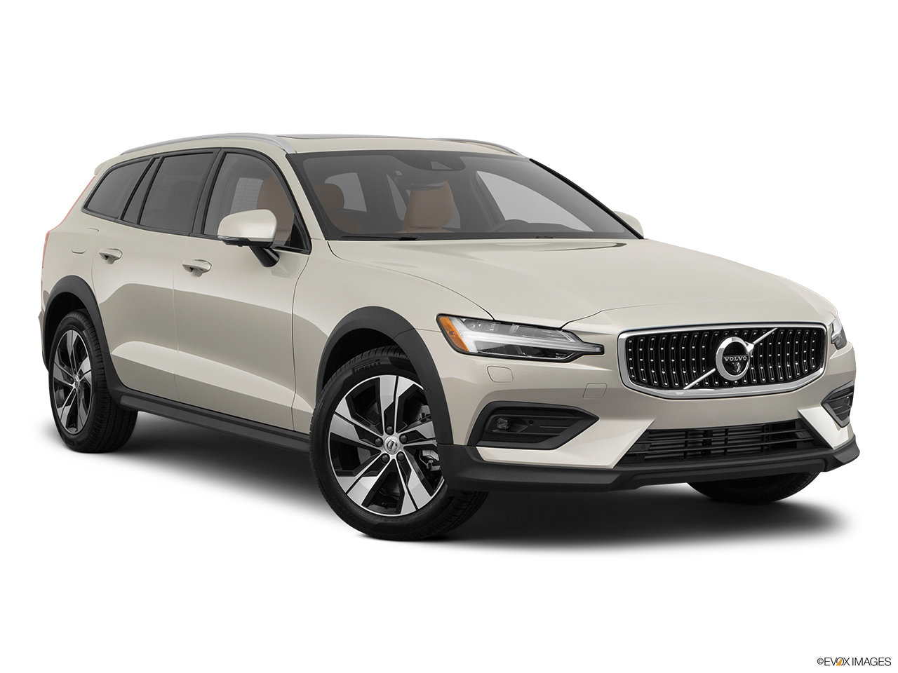 2020 Volvo V60 Cross Country T5 AWD Front passenger 3/4 w/ wheels turned.