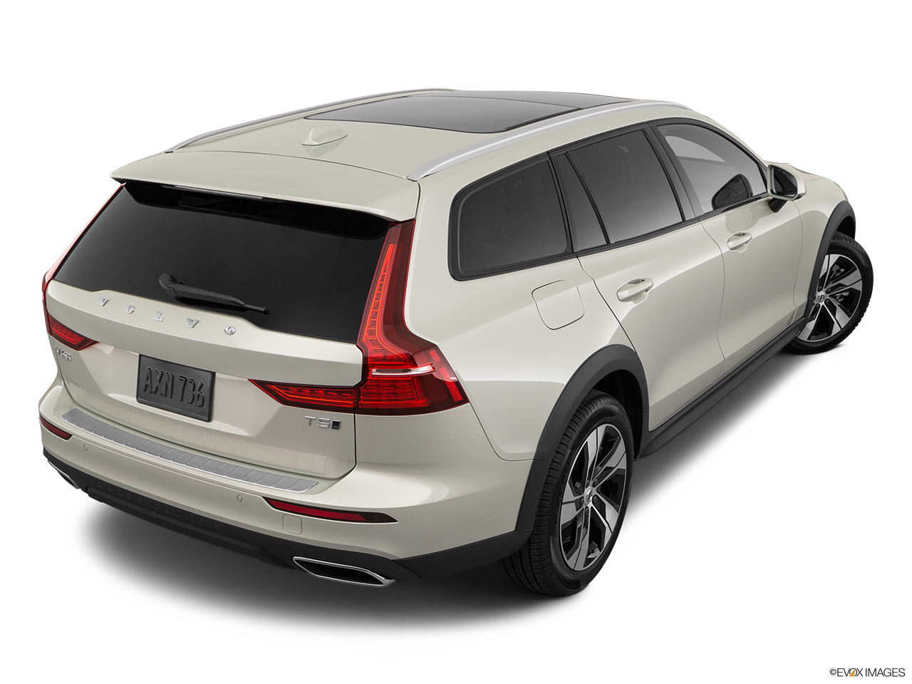 2020 Volvo V60 Cross Country T5 AWD Rear 3/4 angle view.