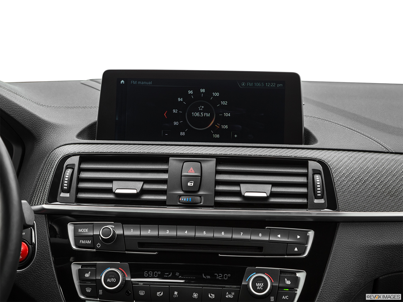 2020 BMW M2 Competition Closeup of radio head unit