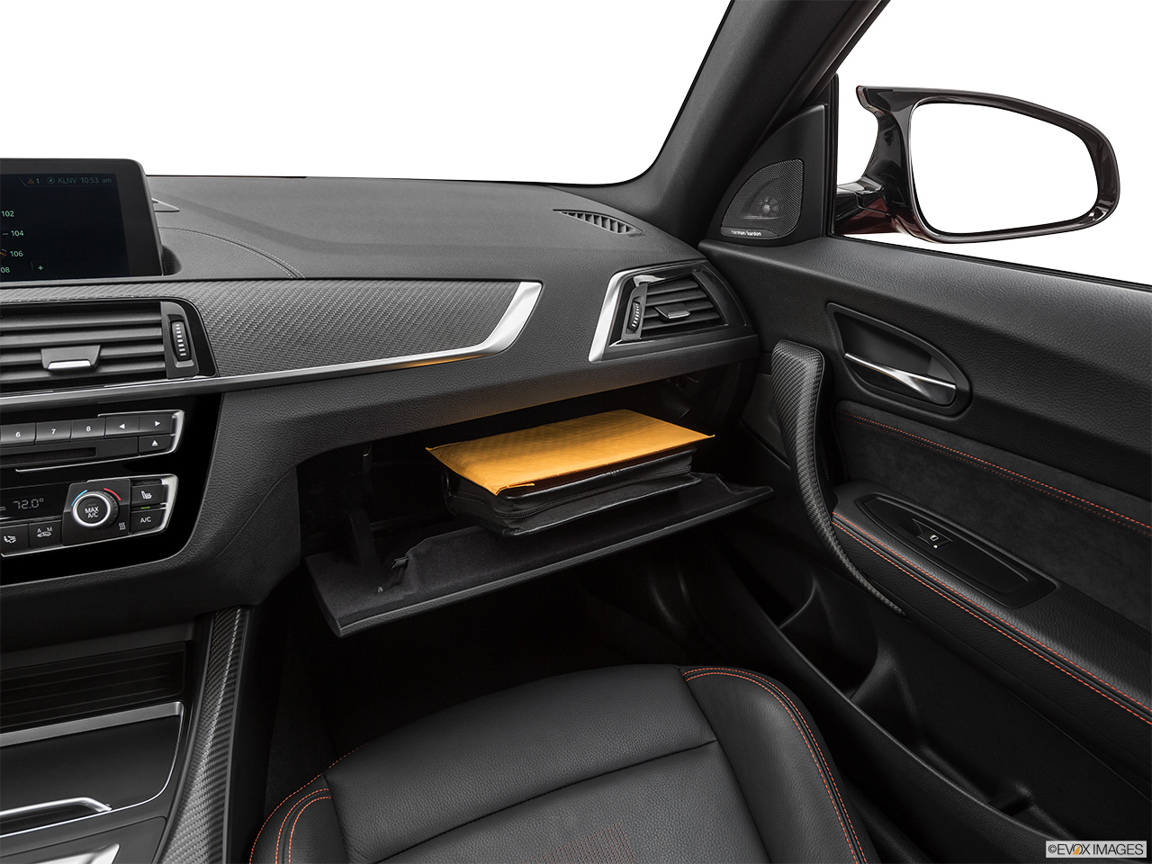 2020 BMW M2 Competition Glove box open.