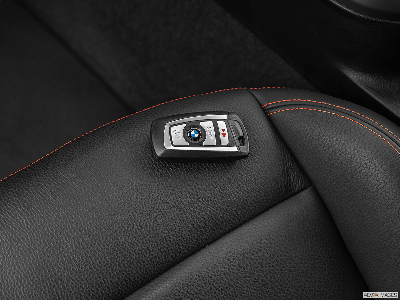2020 BMW M2 Competition Key fob on driver's seat.