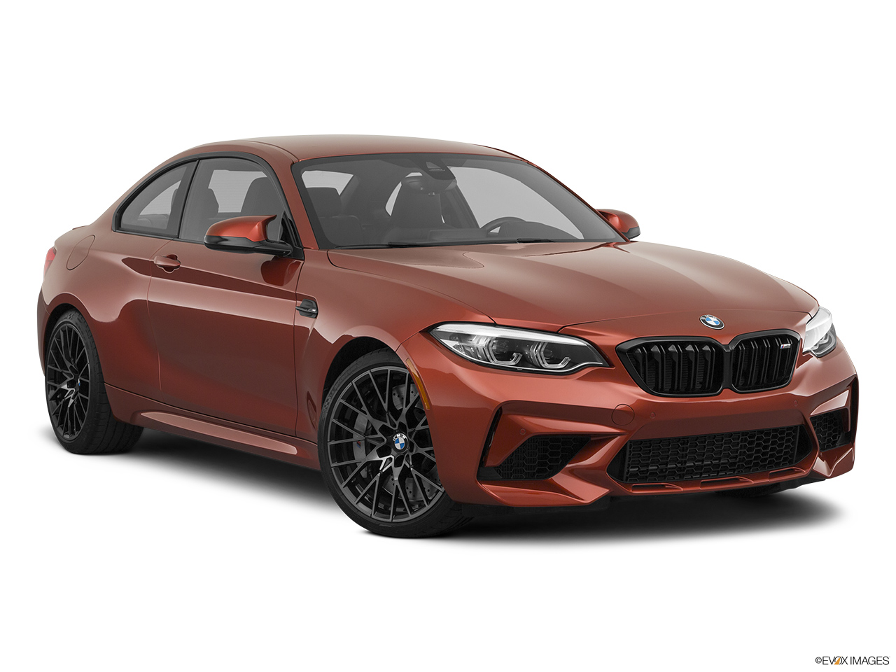 2020 BMW M2 Competition Front passenger 3/4 w/ wheels turned.