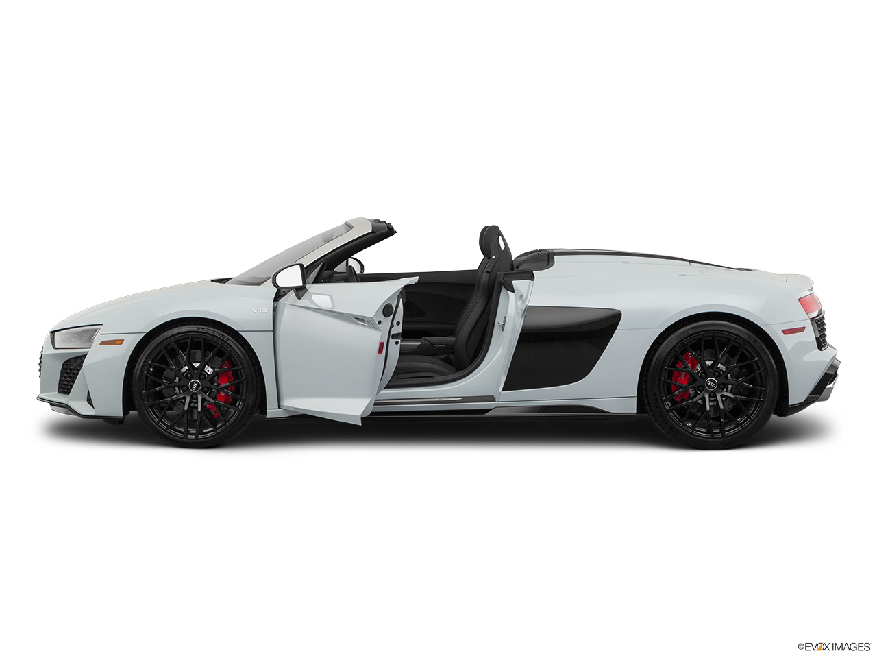 2020 Audi R8 Spyder V10 Driver's side profile with drivers side door open.