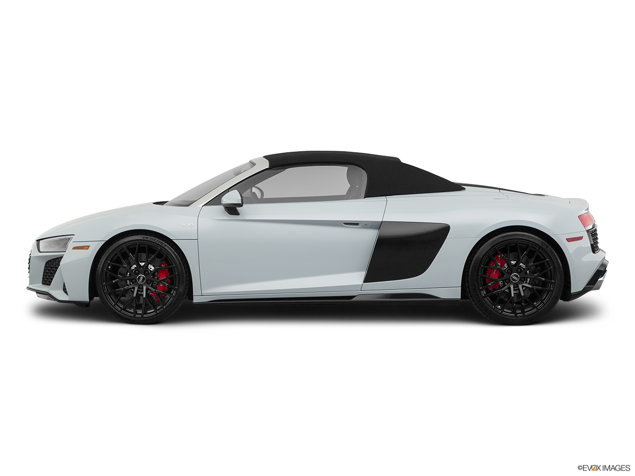 2020 Audi R8 Spyder V10 Drivers side profile, convertible top up (convertibles only).