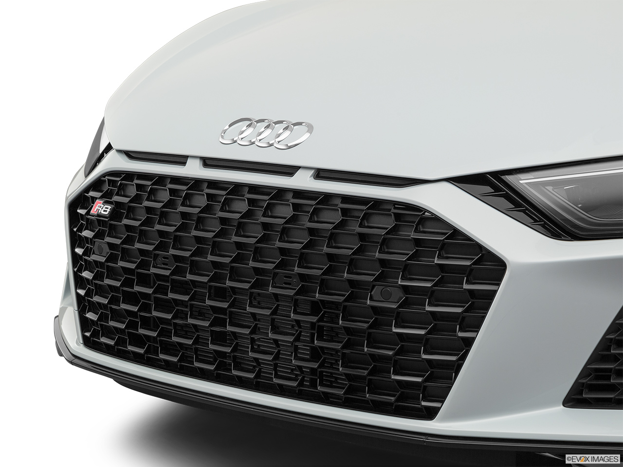 2020 Audi R8 Spyder V10 Close up of Grill.