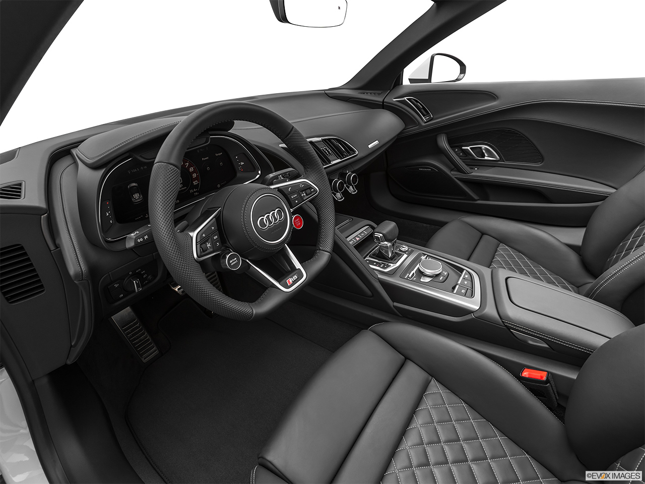 2020 Audi R8 Spyder V10 Interior Hero (driver's side).