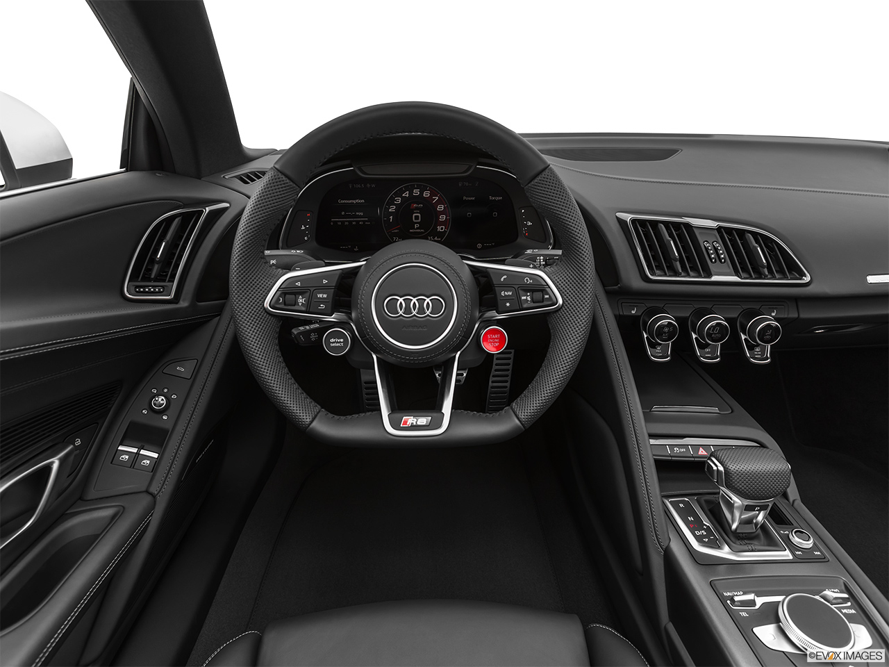 2020 Audi R8 Spyder V10 Steering wheel/Center Console.