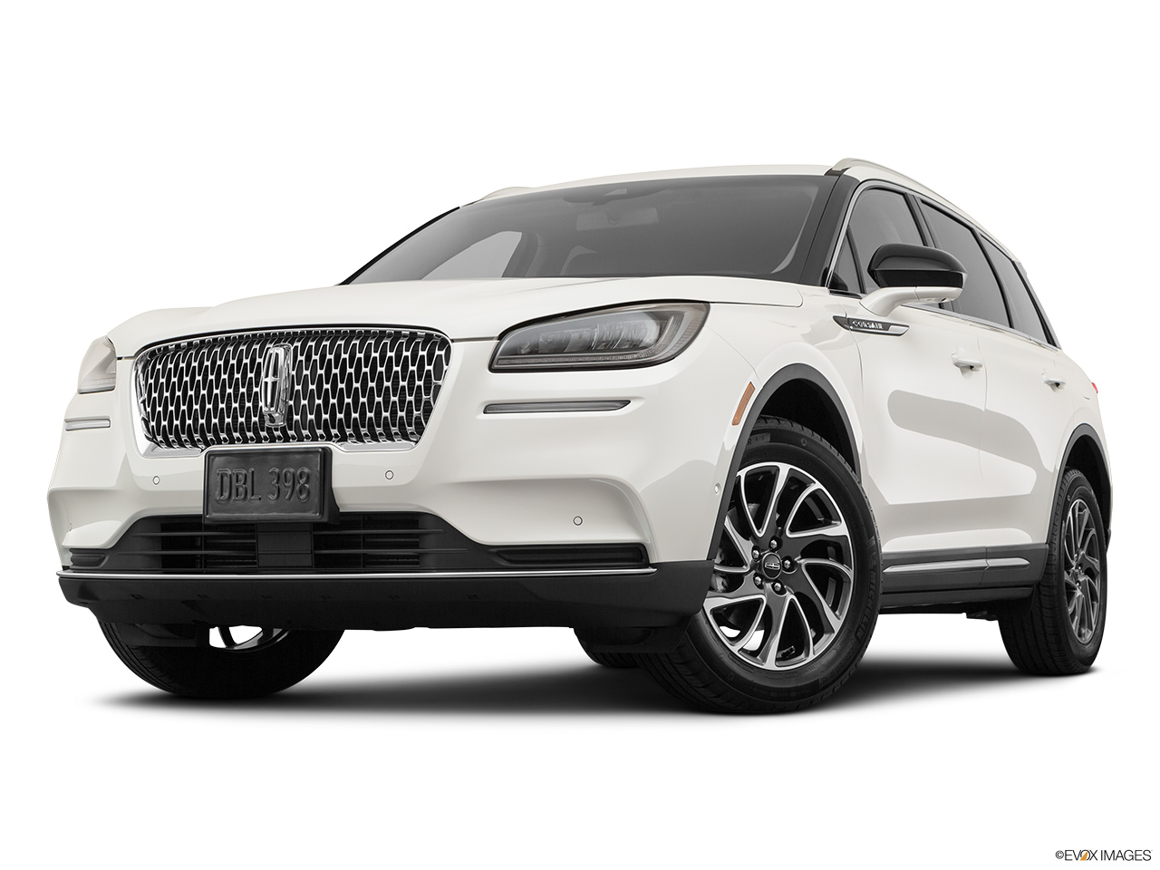 2020 Lincoln Corsair Standard Front angle view, low wide perspective.