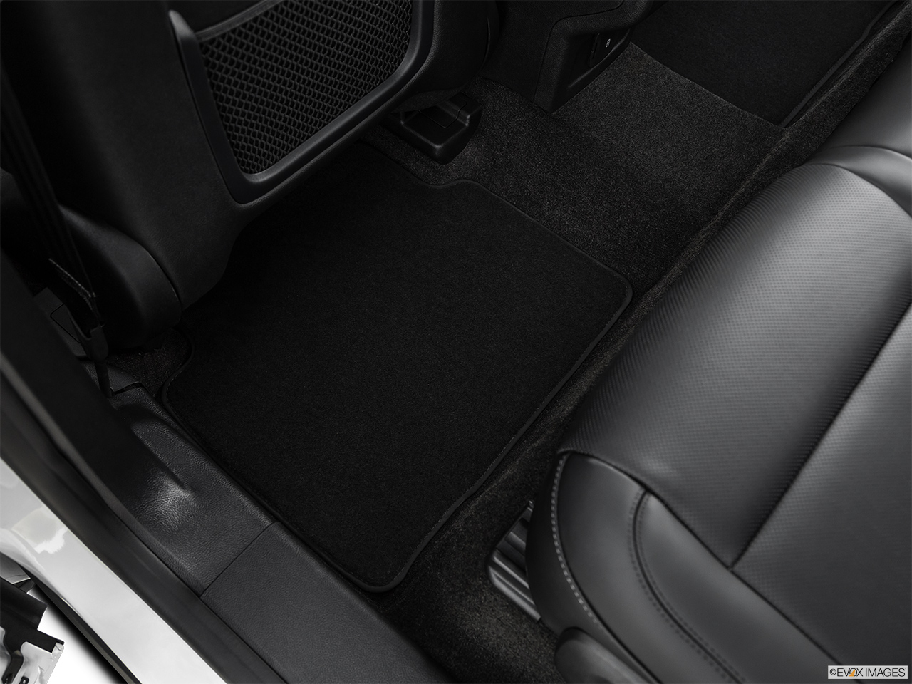 2020 Lincoln Corsair Standard Rear driver's side floor mat. Mid-seat level from outside looking in.
