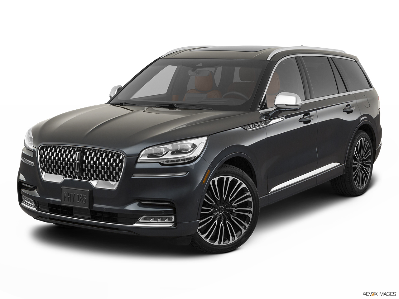2020 Lincoln Aviator Black Label Front angle view.