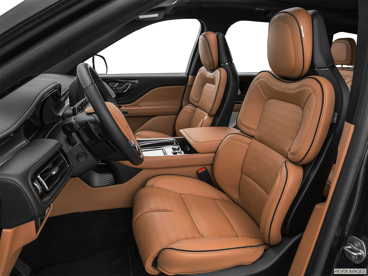2020 Lincoln Aviator Black Label Front seats from Drivers Side.