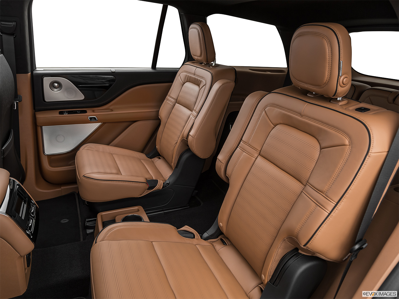2020 Lincoln Aviator Black Label Rear seats from Drivers Side.