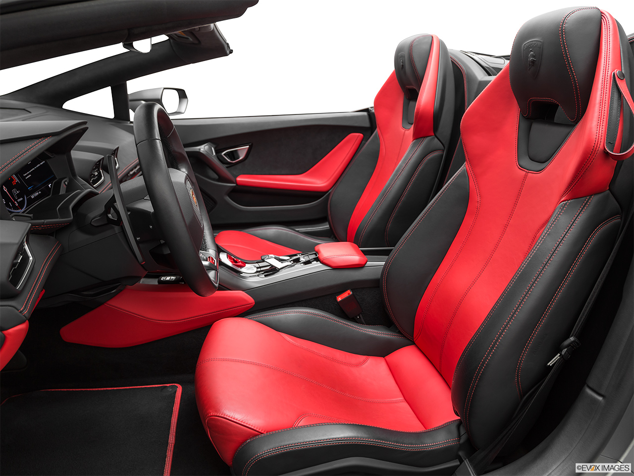 2019 Lamborghini Huracan Spyder LP580-2S Front seats from Drivers Side.