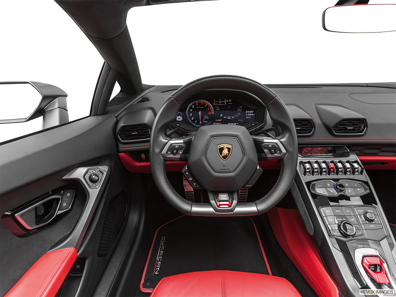2019 Lamborghini Huracan Spyder LP580-2S Steering wheel/Center Console.