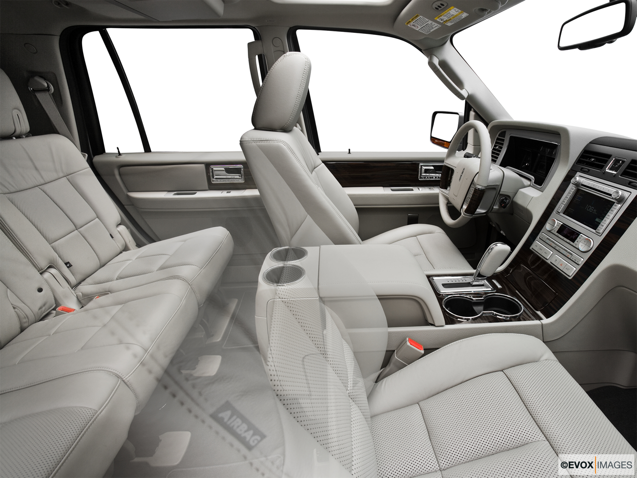 2010 Lincoln Navigator Base Fake Buck Shot - Interior from Passenger B pillar.