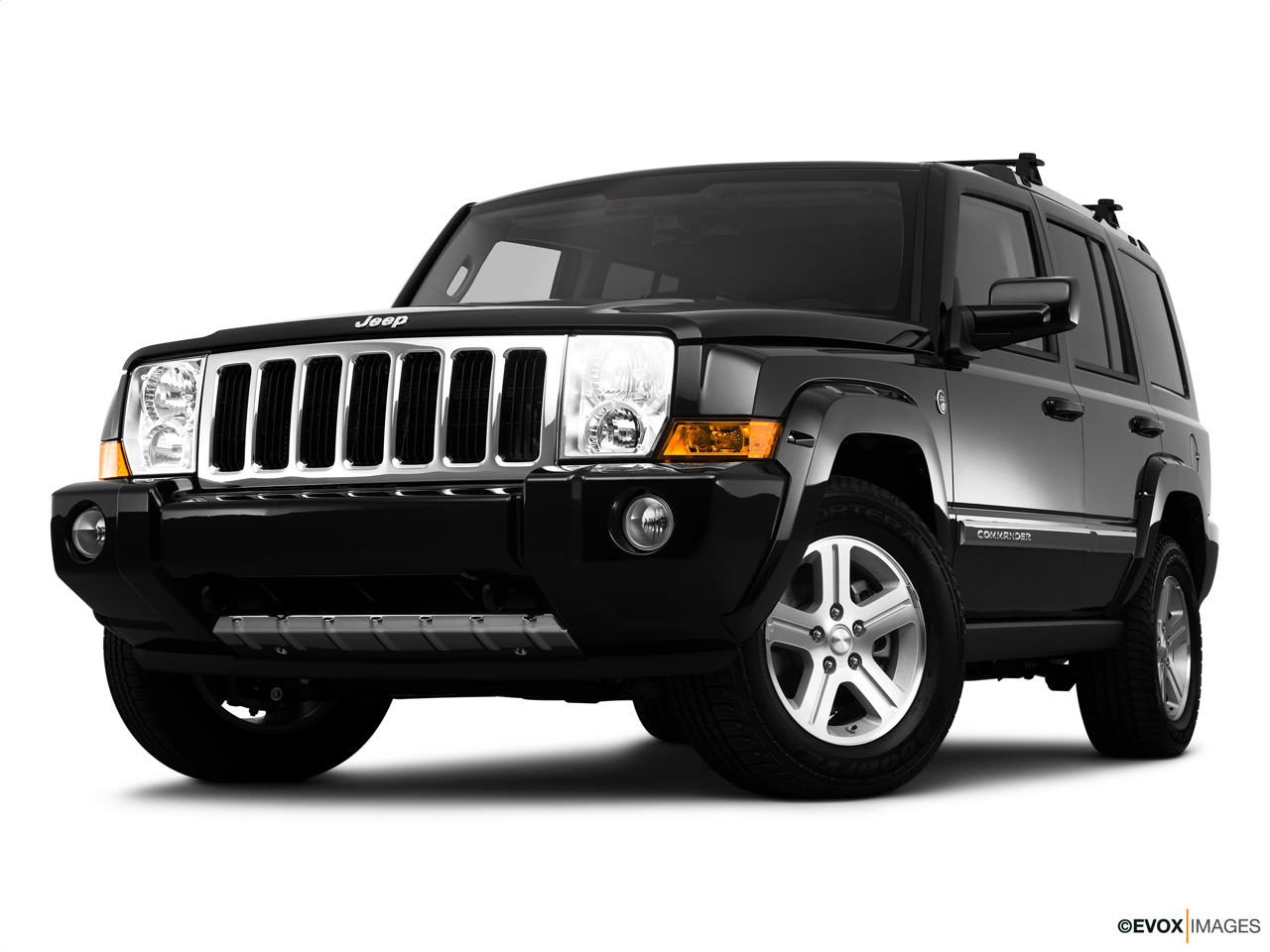 2010 Jeep Commander Limited Front angle view, low wide perspective.