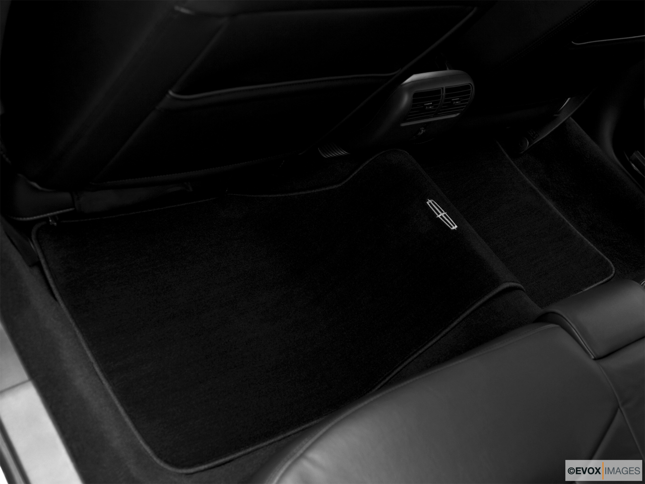 2010 Lincoln Town Car Signature L Rear driver's side floor mat. Mid-seat level from outside looking in.