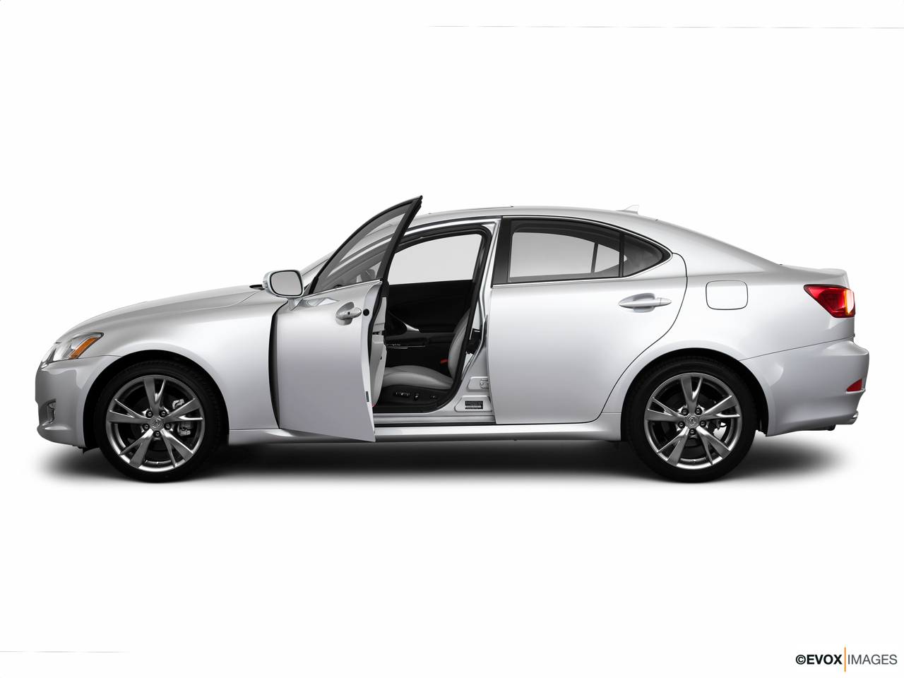 2010 Lexus IS 250 IS250 Driver's side profile with drivers side door open.