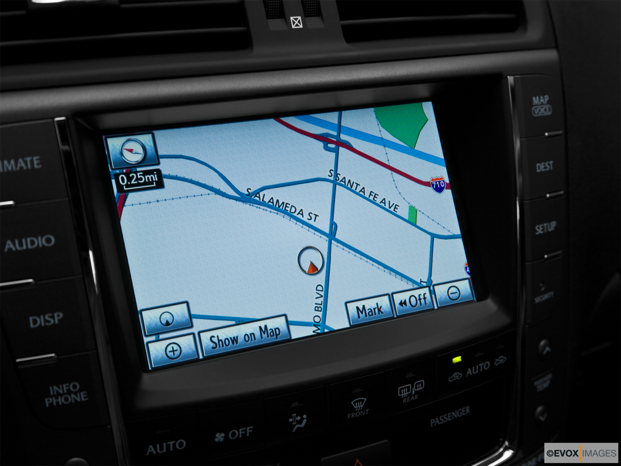 2010 Lexus IS 250 IS250 Driver position view of navigation system.